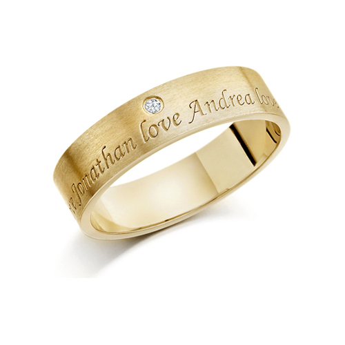 22ct Engagement And Wedding Rings With Names Engraved