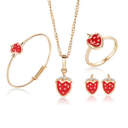 Strawberry Replica 22ct Yellow Gold Jewel Set