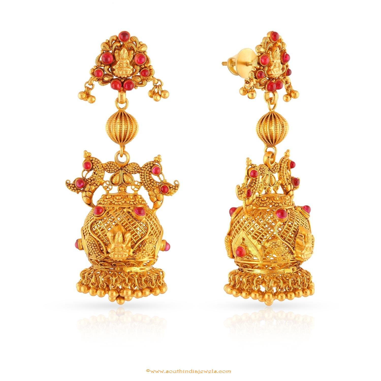 Gold Jhumkas Online Shopping | Types of Gold Jhumka Designs ...