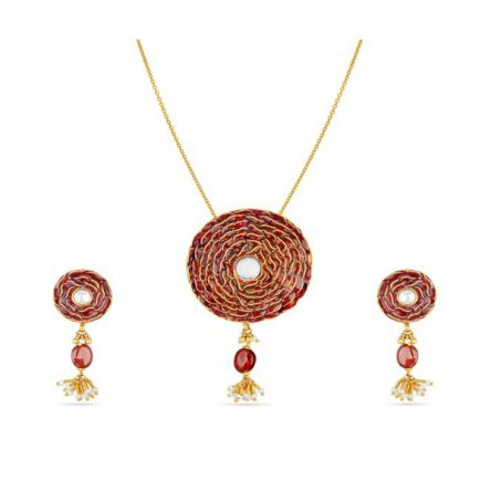 Womens Divine Gold Jewel set