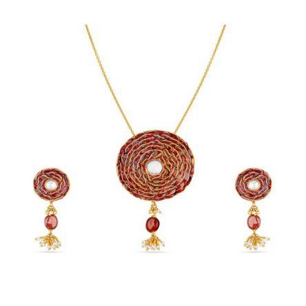 Womens Divine Gold Jewel set