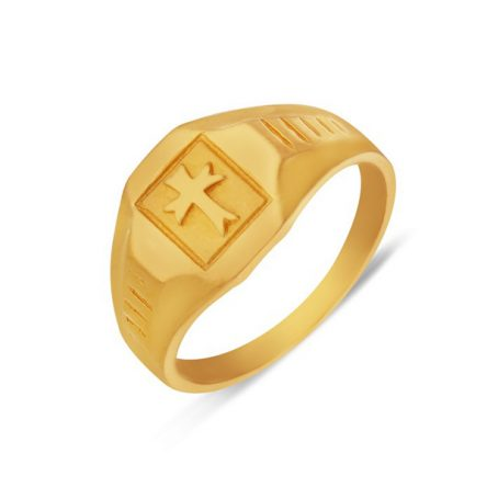 Sterling Yellow Gold Cross Design Ring