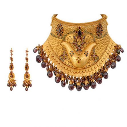 Rajputana Choker Embellished With Pearls And Kundan