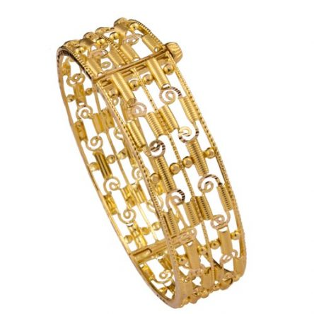 Designer Kada In Yellow Gold For Women